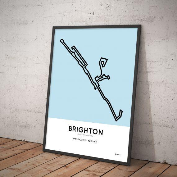 2013 Brighton marathon course poster