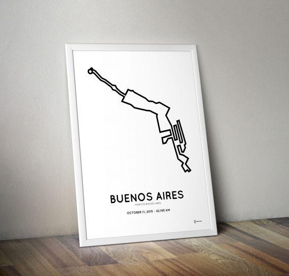2015 Buenos Aires marahon minimalistic print