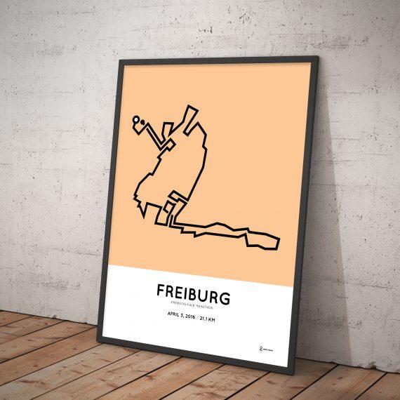 2016 Freiburg half marathon poster
