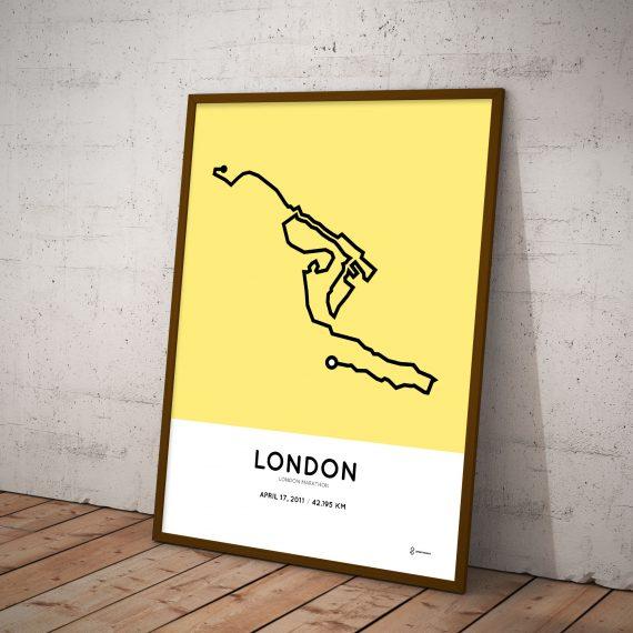 London marathon 2011 course map