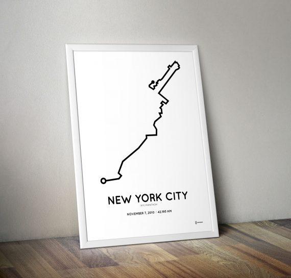 2010 NYC marathon print