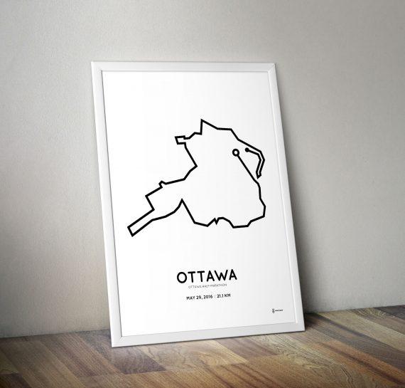 2016 Ottawa half marathon poster