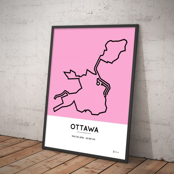 2016 Ottawa marathon print