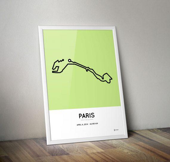 Paris marathon 2014 poster