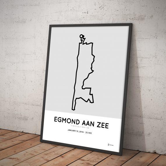 2016 Egmond halve marathon parcours poster