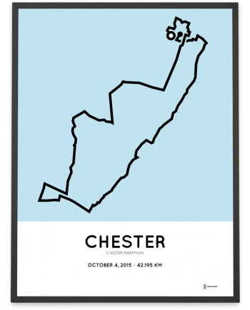 2015 Chester marathon route poster