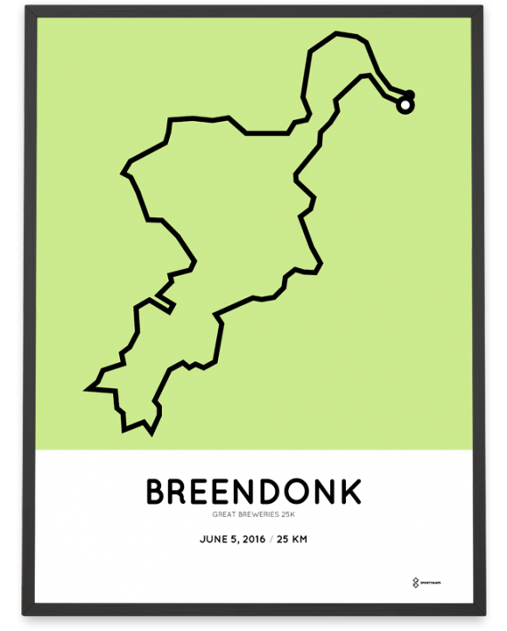 2016 Great Breweries 25k parcours poster