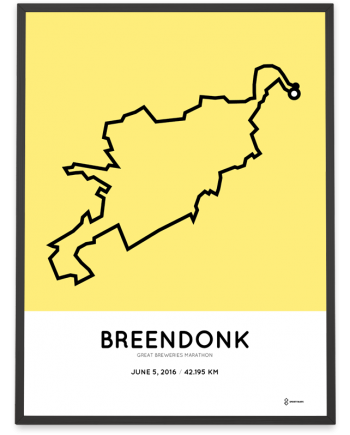 2016 Great Breweries marathon course print