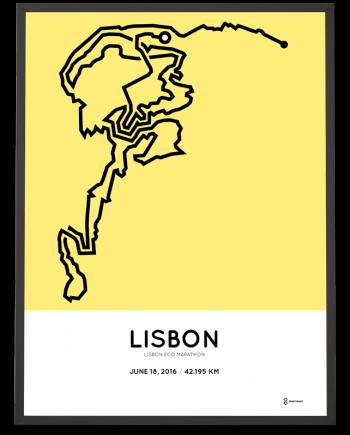 2016 Lisbon Eco Marathon course print