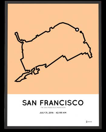 2016 San Francisco marathon print