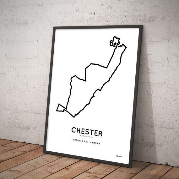 Chester marathon 2014 parcours print