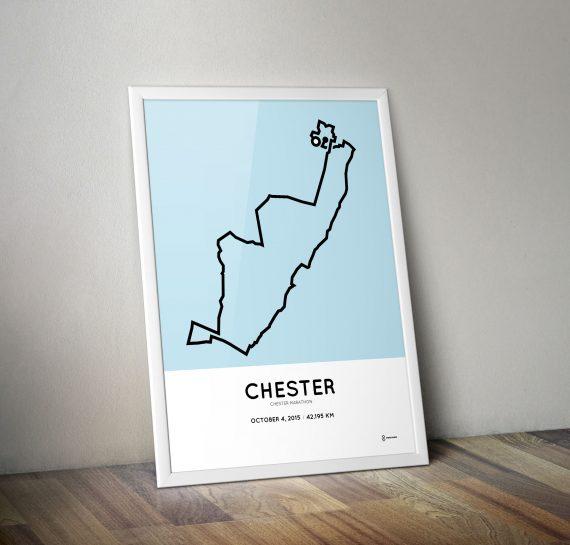Chester marathon 2015 course print