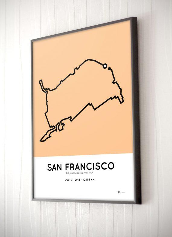 SanFrancisco marathon course poster 2016