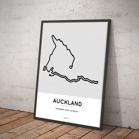 2015 Auckland Marathon parcours poster