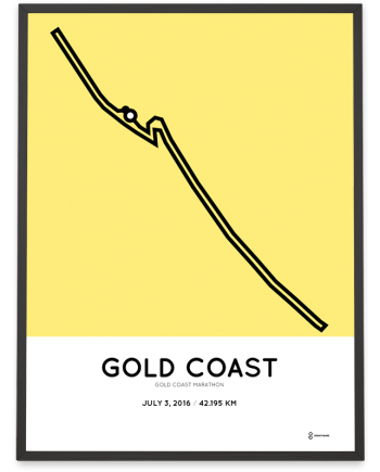 2016 Gold Coast Marathon course poster