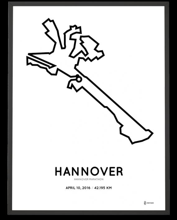 2016 Hannover Marathon course print