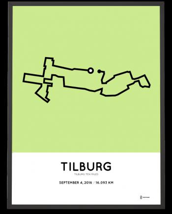 2016 Tilburg ten miles parcours poster