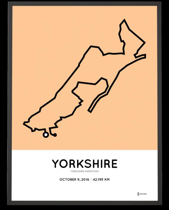 2016 Yorkshire Marathon course print