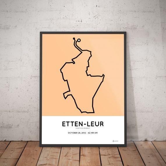 2012 Etten-Leur marathon course poster