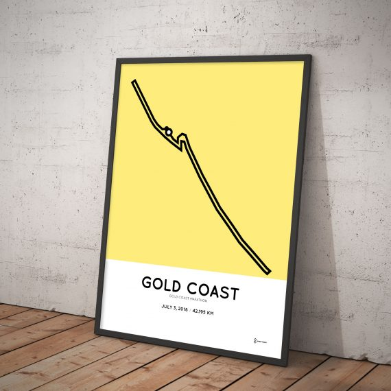 Gold Coast Marathon 2016 poster