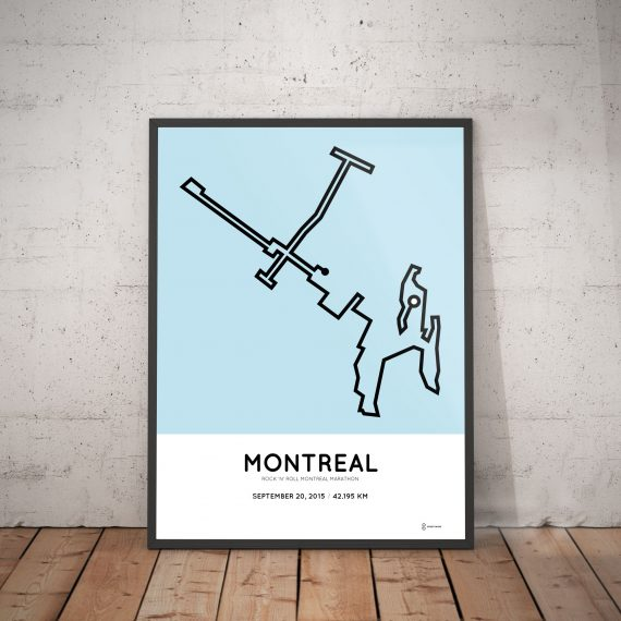 2015 Montreal marathon poster