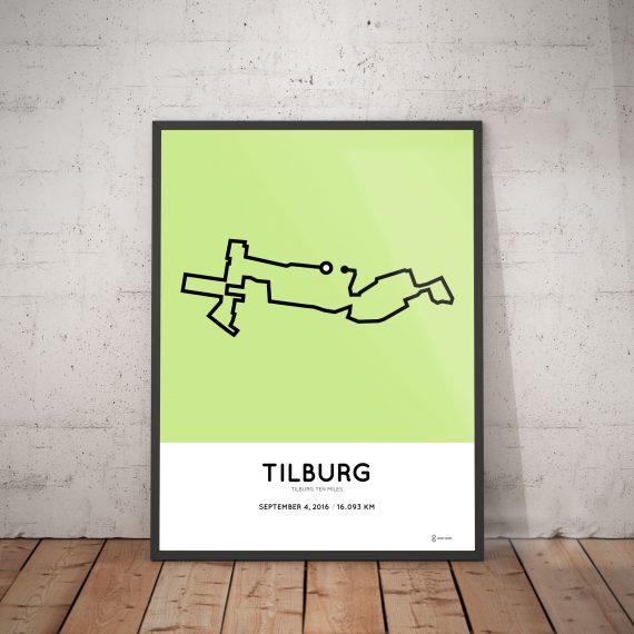 2016 Tilburg Ten Miles parcours print