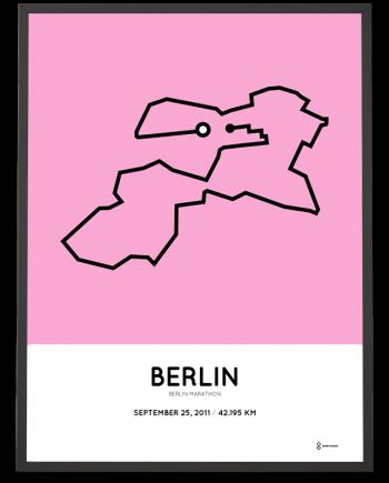2011 Berlin marathon course poster