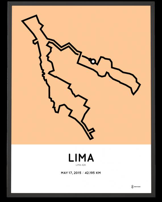 2015 Lima marathon course print