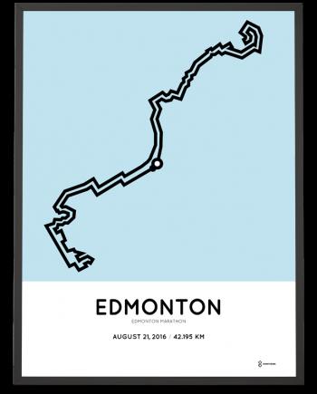 2016 Edmonton marathon course print