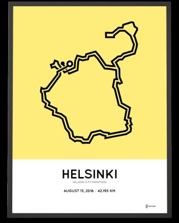 2016 Helsinki City marathon course