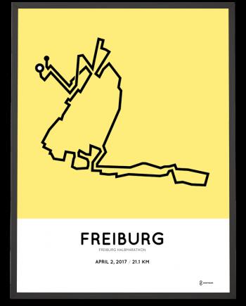 2017 Freiburg halb marathon course print