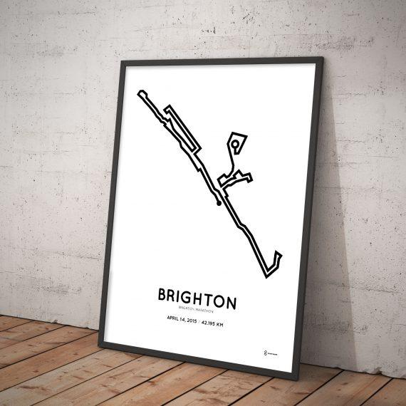 2015 Brighton marathon parcours print