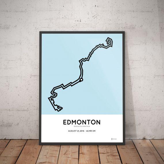 2016 Edmonton marathon course poster
