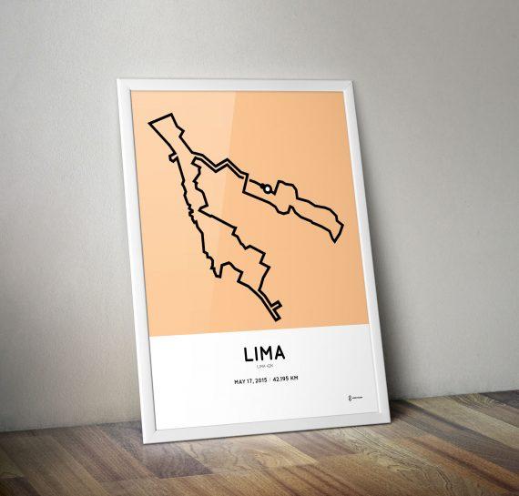 2015 Lima marathon art print