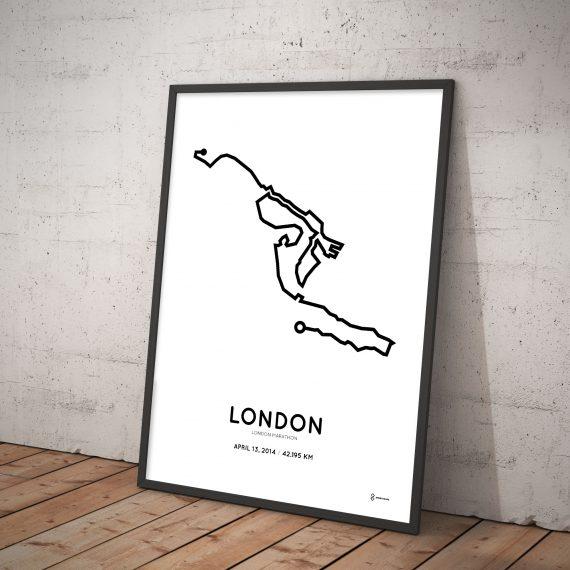 2014 London marathon course print