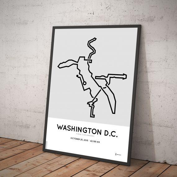 2015 Marine Corps Marathon route print