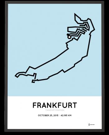 2015 frankfurt marathon course print