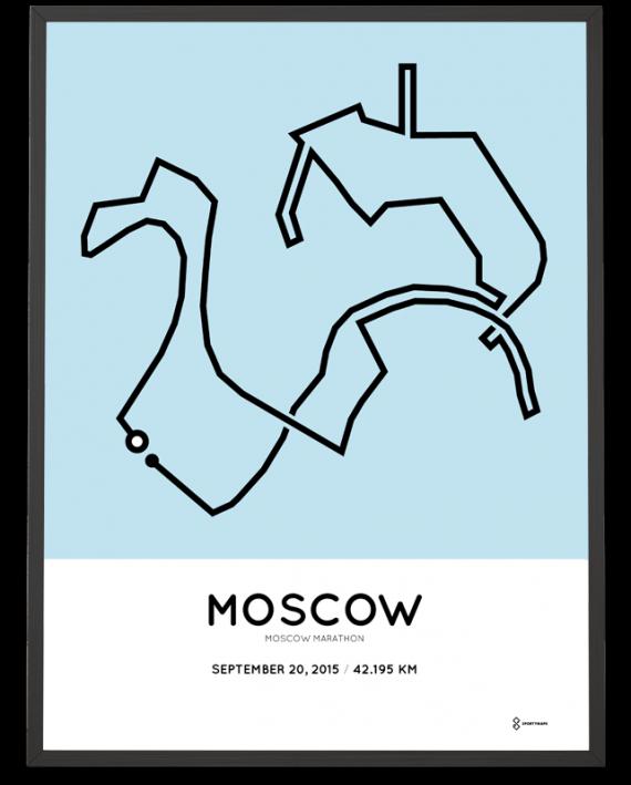2015 Moscow Marathon course poster
