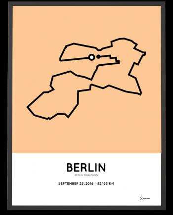 2016 berlin marathon course print