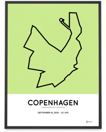 2016 copenhagen half marathon course poster