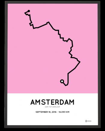 2016 dam tot damloop route print poster