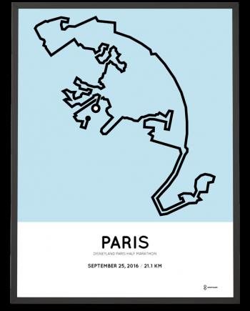 2016 Disneyland Paris half marathon course poster