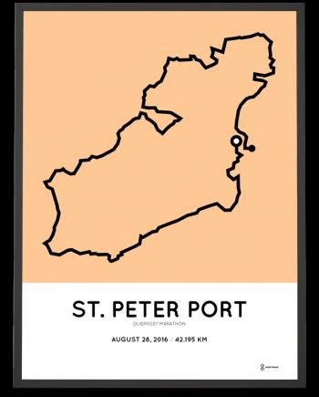2016 Guernsey marathon course poster