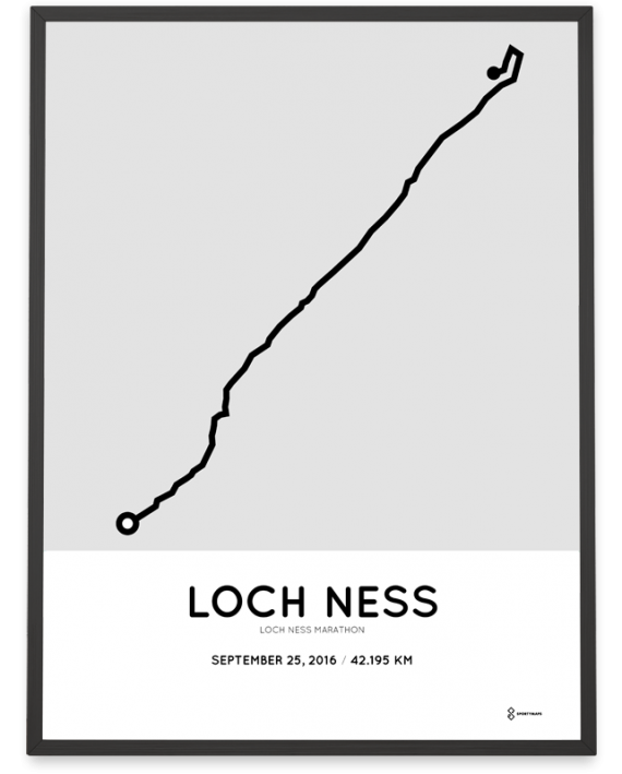 2016 loch ness marathon course print