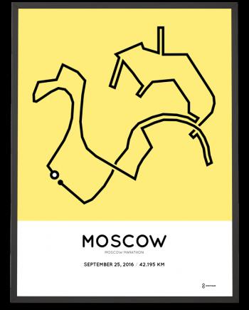 2016 moscow marathon course poster