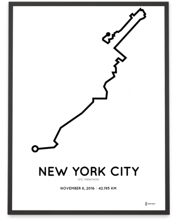 2016 New York City marathon course print