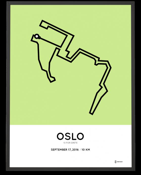 2016 oslo 10km course poster