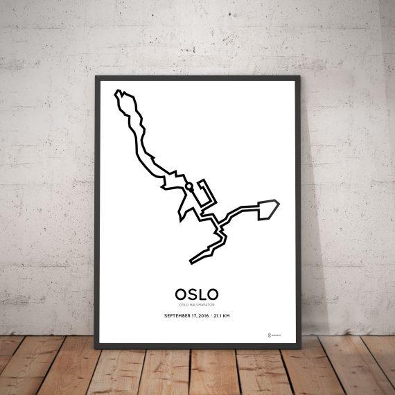 2016 oslo halvmaraton course print