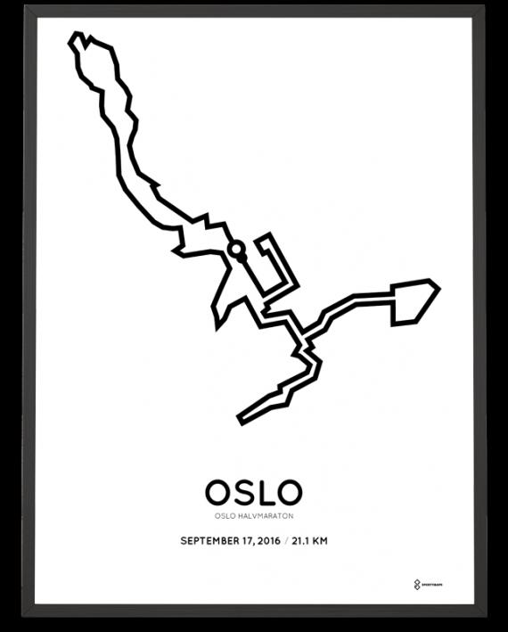 2016 oslo half marathon course poster