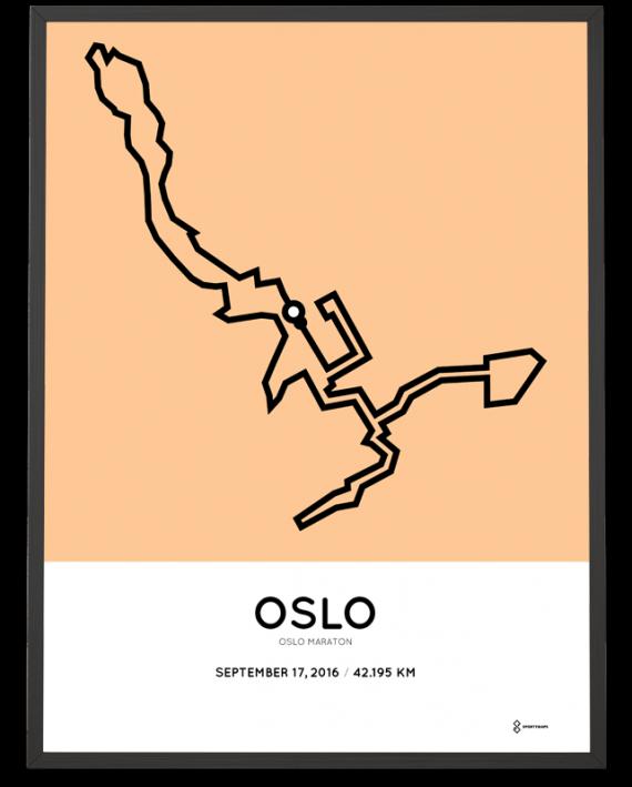 2016 oslo marathon course poster